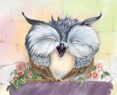 a very happy owl