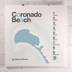 Coronado Beach poster