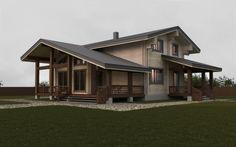 Дом в д. Мацки. 188 м2 двойной брус, деревянный дом, дерево, проект дома, проектирование, wood house, light