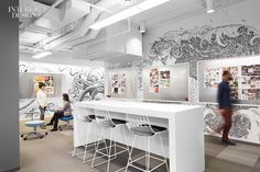whimsical office - Designed by Eastlake Studio for the packaging design company 'Equator Design' in Chicago, this whimsical office has walls that are cove. Interior Design Magazine, Office Furniture, Office Decor, Office Inspo, Furniture Ideas, Illinois, Innovative Office, Creative Office Space, Office Spaces