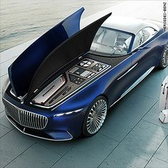 Mercedes presents a stunning, super-long luxury cabriolet – car interior design – Auto Design Ideen Mercedes Benz Maybach, Gls Mercedes, Supercars, Design Autos, Top Luxury Cars, Cabriolet, Futuristic Cars, Top Cars, Expensive Cars