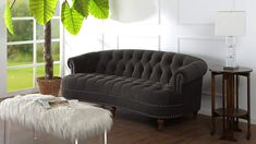 """The La Rosa Collection Introduces aSofa With a Luxurious Size: Dimensions are 85"""" x 37"""" x 32"""" and it Weighs Only 104 lbs., It Can Easily Fit Comfortably Anywhere in Your Home #frenchcountrysofa"""
