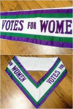 Suitable for dressing up parties, film and theatre, or simply for social history buffs, this listing is for a faithful reproduction of the sashes worn in the early 20th century by the Suffragette movement. This political organisation campaigned for women to achieve the right to vote. In Britain, purple, green and white were adopted as the official colours to represent dignity, purity and hope, and used on banners such as this one, as well as rosettes, posters and badges. This sash is made…