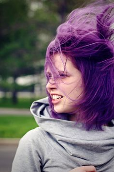 Purple In Motion.  I LoVe purple hair!