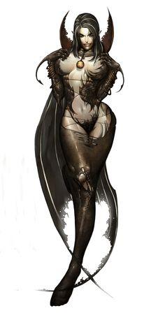 The Demon Lord Malcanthet, Queen of the Succubi Dark Fantasy, Fantasy Women, Fantasy Girl, Character Design Cartoon, Character Art, Comic Japan, Anime Sensual, Art Manga, Demon Girl