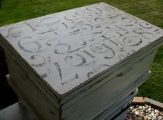Repurposed toy box - Love the top