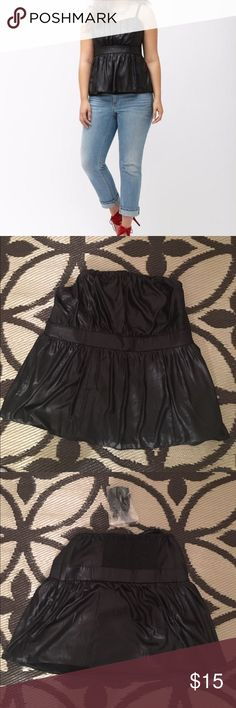 ✨✨✨FAUX LEATHER TUBE TOP✨✨✨ SZ 22 Comes with bra straps. Sexy top!! Lane Bryant Tops