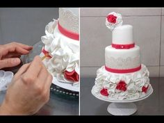 How to Make a Wedding Cake: Wedding Cake Decorating (Part 3) from Cookies Cupcakes and Cardio - YouTube