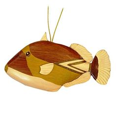 Hawaiian Style Handmade Wood Christmas Ornament Humuhumunukunuku Fish *** You can get more details by clicking on the image.