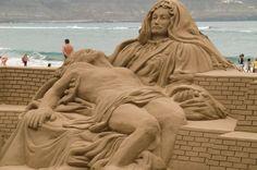 Espectaculares esculturas de arena