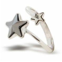 25a0f98d2 Strieborný prsteň s kryštálmi Swarovski Elements P4745JC | Divine Jewellery  eshop Swarovski, Manžetové Gombíky,