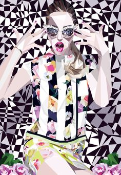 Italian Cubism Illustration by Catarina Velosa