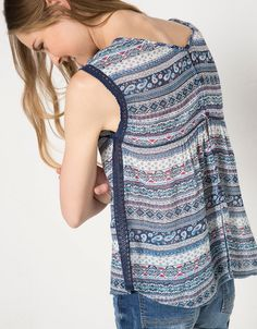 Bershka Jordan - BSK print blouse