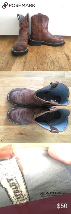 Cowboy boots Ariat Fatbaby boots. Worn handful of times. Ariat Shoes Heeled Boots