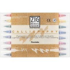 Zig Memory System Calligraphy Markers, Multicolor, 8-Pack... https://www.amazon.com/dp/B0050JKNFI/ref=cm_sw_r_pi_awdb_x_ee5eAb9TY56PF