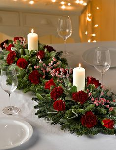 Double Christmas Table Arrangement | M&S