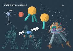 Lucid Dream - game Space Shuttle - Module concept, Tomas Ciger Eniac on ArtStation at https://www.artstation.com/artwork/42rN1