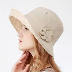 Sweet flower bucket hat for women UV sun hats outdoor wear