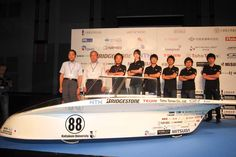 In a televised reveal, Japan's Kogakuin University Solar Vehicle Project team introduced Practice 驍勇, its World Solar Challenge 2013 vehicle powered by high efficiency SunPower #solar cells. The Australian #WSC kicks off on October 6 in Darwin and ends 3,000 solar-powered miles later on October 13 in Adelaide. #FastFridays