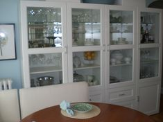 Ikea besta cabinets for dining room storage
