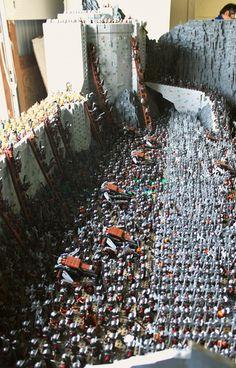 Las dos torres de El señor de los anillos, en 150.000 piezas de Lego (FOTOS, VÍDEO)