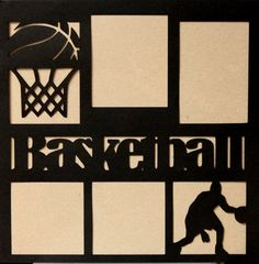 """Die-Cut Cardstock Basketball 11.50"""" x 11.50"""" Scrapbook Page Overlay is available at Scrapbookfare.com."""