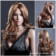 Cheap wig union, Buy Quality wig costume directly from China wig girl Suppliers: Free Shipping Fancy Long Big Wavy Hair Wigs Fluffy And Cute Wavy Hair Wigs Light Dark Brown Blonde and BlackUS $ 14.20/p