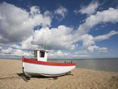 Boat on the Beach, Dungeness, Kent, England, United Kingdom, Europe Photographic Print by Jean Brooks at AllPosters.com