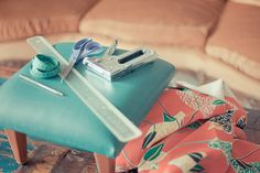 DIY retapisser un tabouret vintage