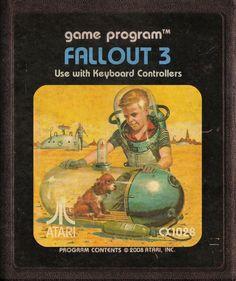 MODERN GAMES AS ATARI CARTRIDGES #gaming #fallout #retro #cartridges