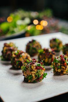 Christmas Appetizers, Dried Cranberries, Pistachio, Parsley, Parmesan, Cinnamon, Honey, Cheese