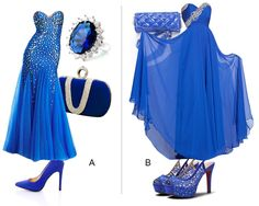 Stunning prom dresses ❤ Which one will you choose, A or B?