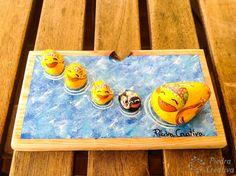 Tray, Home Decor, Painted Rocks, Ducks, Tutorials, Creativity, Animales, Manualidades, Decoration Home