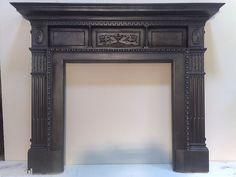 original victorian cast iron fireplace mantel/surround. 2X MATCHING AVAILABLE | eBay
