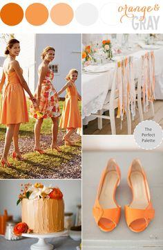 The Perfect Palette: Color Story | Orange & Gray http://www.theperfectpalette.com/2014/01/color-story-orange-gray.html