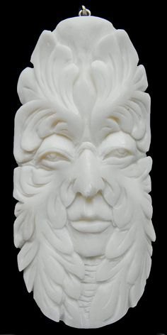 Hand carved bone pendant GREEN MAN tree spirit Totem- create your own necklace! #13-06 greenman on Etsy, $24.00 FREE SHIPPING WITH CODE: GREENMAN through 8-26-14!!