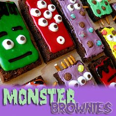 Monster Brownies - Amanda's Cookin'