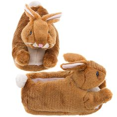 These brown bunny slippers are a must have for any fan of bunny slippers for men and women.  Bunny slippers aren't just one of the best selling types of animal slippers, they are absolutely the most fun.  Find these brown bunny slippers for men and women or check out other colors and styles by visiting our site on the click website button above.