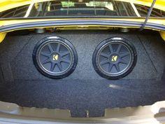 Kicker Subwoofer Installation at Tint World Subwoofer Box, Car Speaker Box, Car Audio Shops, Car Dump, Custom Car Audio, Car Audio Installation, Honda Civic Sedan, Jl Audio, Autos