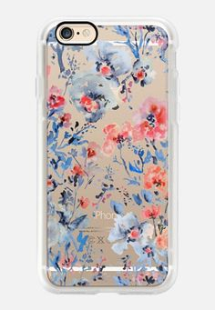 Casetify iPhone 7 Case and Other iPhone Covers - Red & Blue-Clear by Pineapple Bay Studio | #Casetify