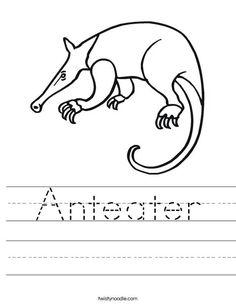 Rabbit Worksheet - Twisty Noodle | Animals worksheets