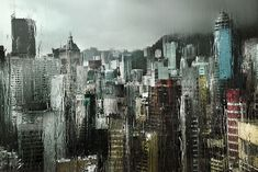 http://christophejacrot.com/hong-kong-in-the-rain/  Huile 1: 60X90 cm ed.10 /other sizes sold out