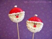 Un Papá Noel de queso ¡en piruleta!