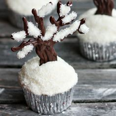 Snowy Cupcakes