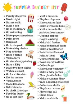 Summer Bucket List + free Printable - Serenity You - Summer Bucket List + Free Printable! Get sorted for the summer holidays Summer Bucket List + Fre - Summer Bucket List For Teens, Bucket List Family, Summer Fun List, Summer Books, Summer Kids, Free Summer, Spring Bucket Lists, Fun Bucket List Ideas, Teen Bucket List
