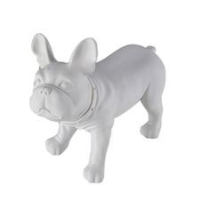 Bulldog Form White - Give your display a fun new look with the bulldog form. Use as an accent piece to tell a story or showcase a favorite product. Features a flat top surface for displaying small products, swivel head, accent collar and is made of PVC plastic.<br /><br />