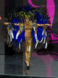 Carolina Brid, Miss Panama 2013, models in the National Costume contest at Vegas Mall on November 3, 2013. (Credit: Darren Decker/Miss Universe2013