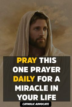 If You Pray this Prayer Daily, Jesus Christ Will Bless You With a Miracle - The Catholic Herald Catholic Prayers Daily, Novena Prayers, Prayers For Healing, Bible Prayers, Powerful Prayers, Healing Prayer, Prayer Scriptures, Spiritual Prayers, Spiritual Growth