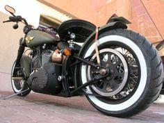 Photo of 2002 Harley Night Train Softail Bobber Bike named Blitz Bomber