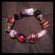 I just discovered this while shopping on Poshmark: Beaded Flag Bracelet. Check it out!  Size: OS